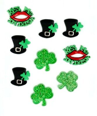 Jesse James Buttons - Dress It Up St. Patrick's Day WHEN IRISH EYES ARE SMILING