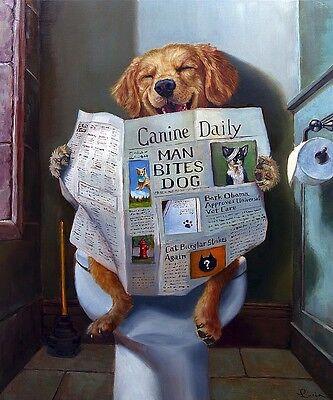 Dog Gone Funny Lucia Heffernan Animal Humor Newspaper Novelty Print Poster 17×20