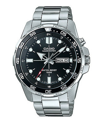 Casio MTD1079D-1AV, Men's Super Illuminator Watch, Day/Date, 100 Meter WR