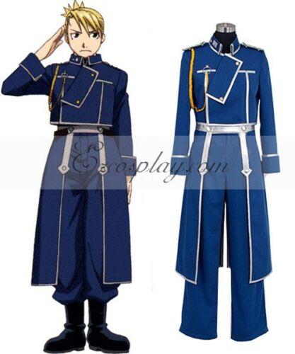 Fullmetal Alchemist Riza Hawkeye Military Cosplay Costume E001