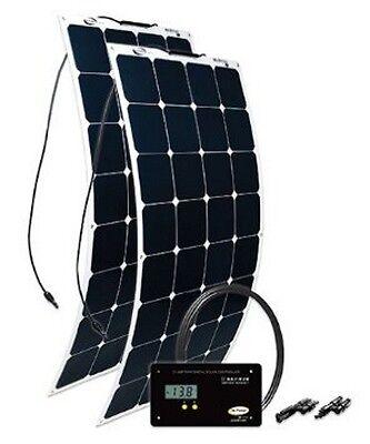 GP-FLEX-200 GO POWER SOLAR FLEX 2x100W FLEXIBLE SOLAR KIT WITH 30 AMP CONTROLLER