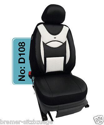 Mercedes GLK X204 Maß Schonbezüge Sitzbezüge 1+1 D108 Schwarz - Weiss
