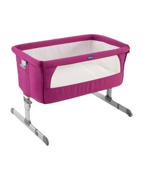 Chicco Next 2 Me Bedside Crib - Fushia (Brand new)