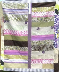 HOMEMADE PATCHWORK THROW - PURPLE FOREST £25 - Ideal over a Bed or Sofa