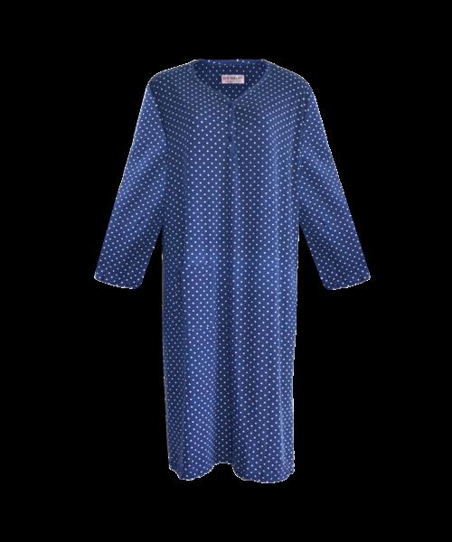 Damen Nachthemd  Gr. 40 42 44 46 48 50 52 54 Langarm  Soft Touch Baumwolle