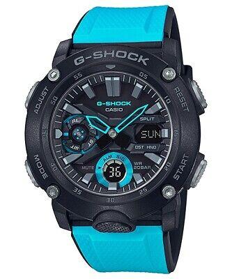 Casio G-Shock Carbon Core Guard Structure Rubber Strap Men's Watch GA2000-1A2