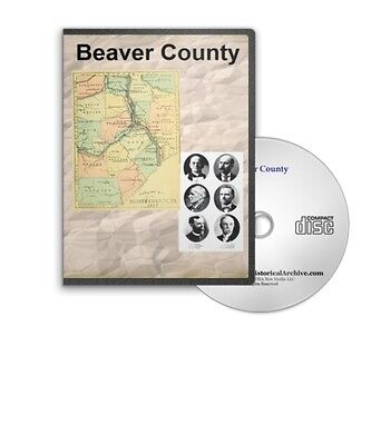 Beaver County Pennsylvania PA History Culture Genealogy 7 Books D359