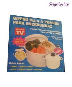 Olla a presion envase para cocinar al vapor microondas rapida sana sin grasa tv ebay - Cocinar al microondas ...