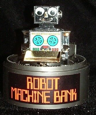 Antique Robot Toys - WIND-UP ROBOT MACHINE MECHANICAL BANK NEW MINT IN BOX! 1980's HONG KONG ANTIQUE!