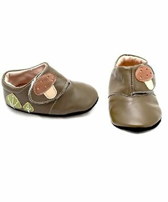 NEW Livie & Luca Woodland Moss Mushroom Boot Shoes Size 0-6 months Baby Boy Girl