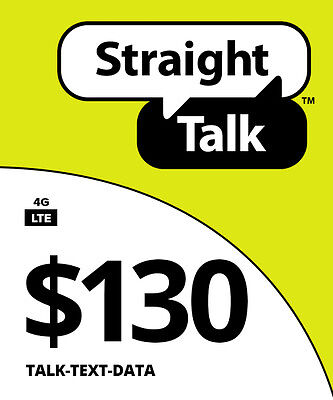 Straight Talk $130 Unlimited 90 Day Plan Card Wlm