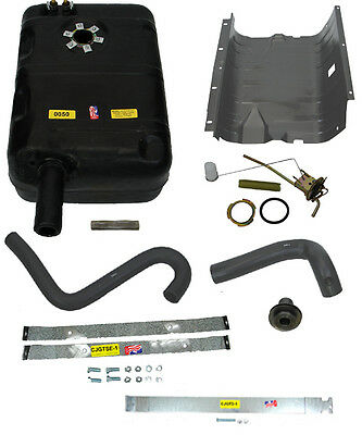1976-1977 Jeep CJ New Plastic Gas Tank Kit with Skid Plate and Hoses  15 Gallon