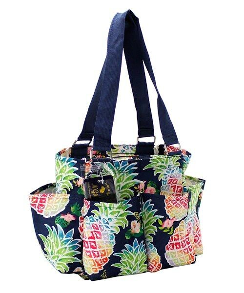 Pineapple NGIL Small Zippered canvas purse Caddy Organizer T