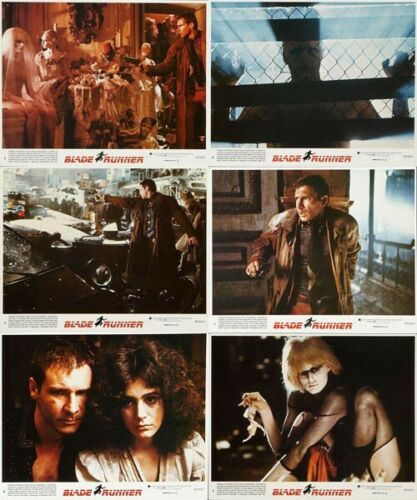 BLADE RUNNER Lobby Cards Series 2 (1982) Set of 6