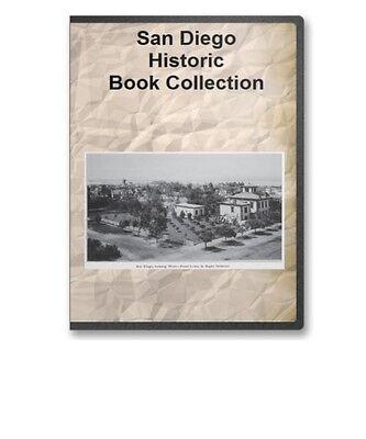 San Diego CA California History Pioneer Genealogy Expo Photos 14 Book Set CD D97