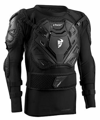 New L/XL 2017 Thor Sentry XP Body Armour Motocross Enduro Black Pressure Suit