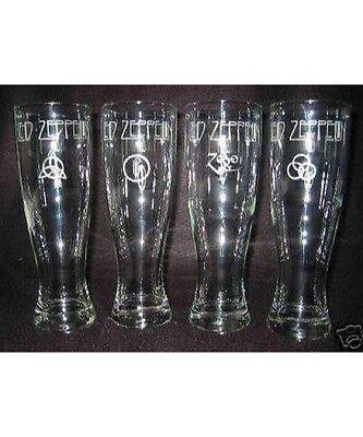 Led Zeppelin  Logo Glass  4 Beer Glasses