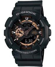 Casio G-Shock Analogue/Digital Mens Black/Rose Gold Watch GA-110RG-1ADR