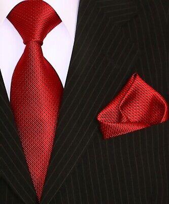 Binder de Luxe Designer Krawatte Einstecktuch Krawatten Set Tie 401 Rot 2 Tlg Tie Krawatte Krawatten