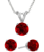 6mm SWAROVSKI® Elements Red Solitaire Pendant & Earring Set