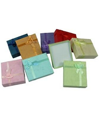 Wholesale 72 Pastel Colors Pendant Necklace Jewelry Gift Boxes