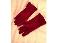 Real Leather Gloves, lambs wool inside