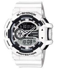 Casio G-Shock Analogue/Digital Mens White/Black Hyper Colour Watch GA-400-7ADR