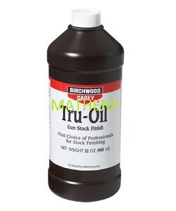 Tru-Oil-32oz-23132-Gun-Stock-Finish-Birchwood-Casey-Truoil-Wood-Oil-Protectant
