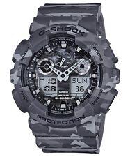 Casio G-Shock Analogue/Digital Mens Camouflage Series Grey Watch GA-100CM-8ADR