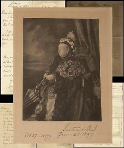 ROYALTY QUEEN VICTORIA SIGNED JUBILEE 1837-1897...7 ITEMS..Sir Francis Seymour
