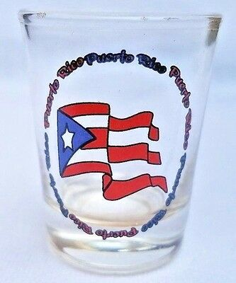 1OZ Shot Glass With Puerto Rico Flag Crystal SOUVENIRS Rican Bandera #2 Boricua](1 Oz Shot Glass)