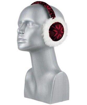 Women's  Snowflake FUR Earmuffs Ear Warmers ()