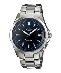 8b95fc09da0 Casio Oceanus Atomic 45.7mm Silver Titanium Case Silver Titanium Bracelet  Band Wristwatch - (OCW-S100-1AJF)