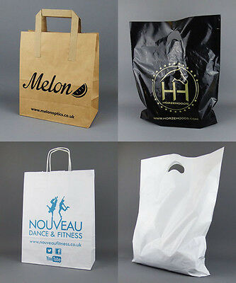 Personalised Custom Printed Carrier Bags