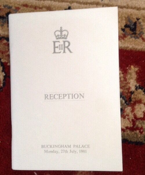 Princess Diana Extremely Rare Pre Wedding Reception Book Buckingham Palace 1981