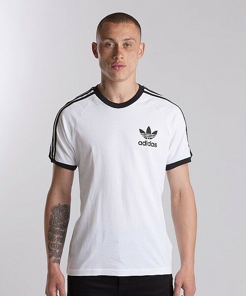 adidas Originals CLFN T Shirt - White/Black SIZE L RRP £ 28.00