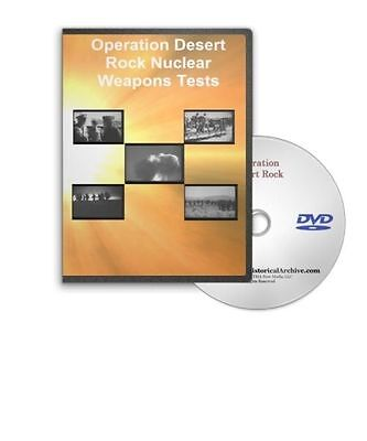 Operation Desert Rock Nuclear Atomic Radiation Bomb Explosion Testing DVD A541
