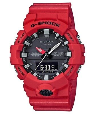 BRAND NEW CASIO G-SHOCK GA800-4A RED/BLACK ANA-DIGI MENS WATCH NWT!!!