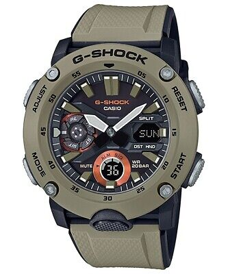 Casio G-Shock Carbon Core Guard Structure Rubber Strap Men's Watch GA2000-5A comprar usado  Enviando para Brazil