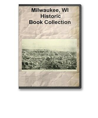 Milwaukee WI Wisconsin County History Culture Genealogy 14 Book Set D41