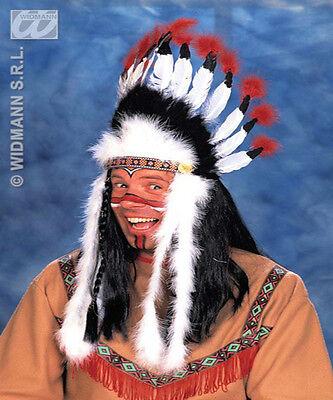 Indianischer Kopfschmuck Sitting Bull Kostüm WARRIOR CHIEF INDIANER flüsster
