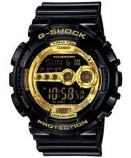 Casio G-Shock Digital Mens Black X Gold Series Watch GD-100GB-1DR