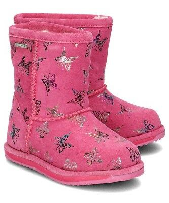 NWB EMU AUSTRALIA Flutter Brumby Waterproof Girl's Boots in Hot Pink - Hot Girl In Boots
