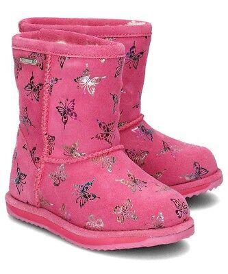NWB EMU AUSTRALIA Flutter Brumby Waterproof Girl's Boots in Hot Pink K11327
