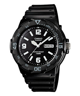 Casio Mrw200h 1B2 Mens 100M Black Diver Classic Sports Watch New Resin Day Date