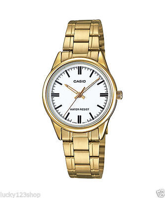 CASIO LTP-V005G-7A WOMENS WATCH GOLD CASE AND STAINLESS STEEL BAND ANALOG