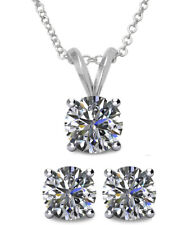 6mm SWAROVSKI® Elements Crystal Solitaire Pendant & Earring Set