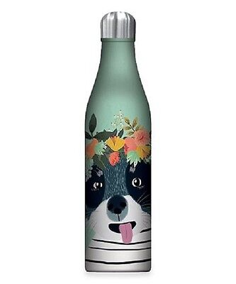 New Studio Oh FANCY DOG 25 oz Stainless Steel Insulated Water Bottle Blue gift