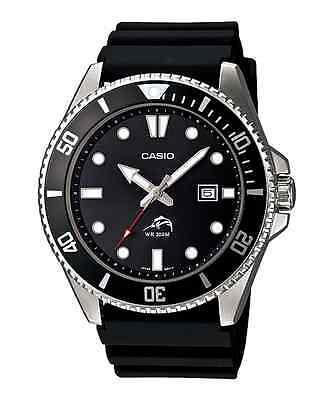 Casio Men's Black Resin Watch, 200 Meter WR, Date,  MDV106-1AV