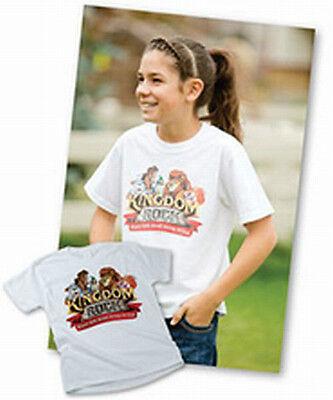 GROUP PUBLISHING KINGDOM ROCK 2013 VBS T-SHIRT. CHILD MEDIUM. NEW! FREE SHIPPIN ](Kingdom Rock Vbs)